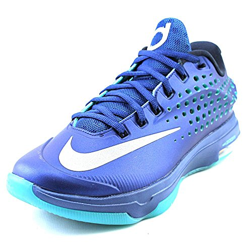Nike KD VII ELITE Mens Sneakers 724349-404,Blue Graphite/Bright Citrus-Dove  Grey-Volt,10 D(M) US