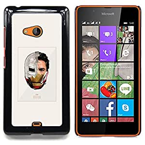 - Iron Superhero Suit Poster Movie - - Snap-On Rugged Hard Cover Case Funny HouseFOR Microsoft Nokia Lumia 540 N540