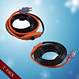 STOCK CLEARANCE!! *GET WINTER READY* Valve and Pipe Heating Cable 6-Feet (2 Pack)