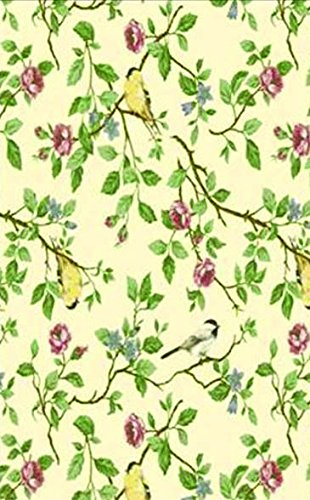 Newbridge Serene Morning Flannel Backed Indoor Outdoor Vinyl Tablecloth,  52 Inch By 70