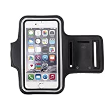 HSL Sports Running Jogging Gymnastics Armband Arm Band Case Cover with Key Holder Slot for iphone6/Samsung Galaxy S6/Edge-Black