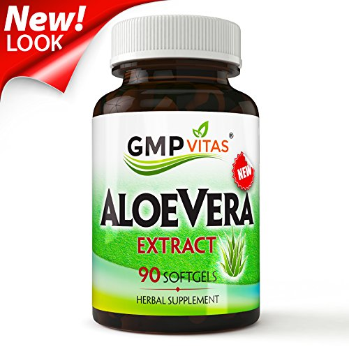 GMPVitas Pure Aloe Vera-Best Digestive Health Supplement with Aloe Vera Extract-for Improved Digestion & Constipation - Aloe Extract Vera