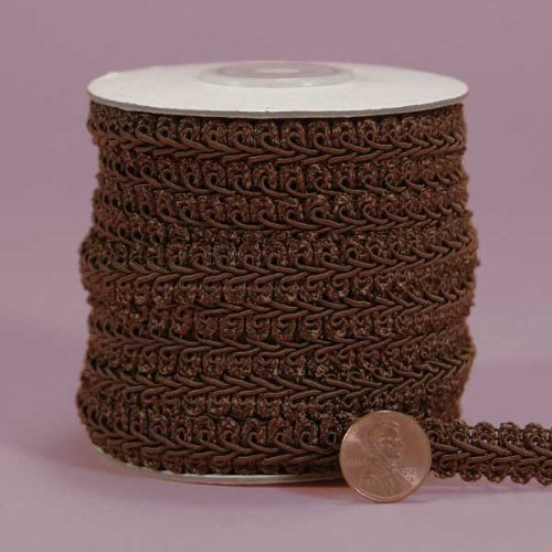 Brown Gimp Braid Trim, 3/8