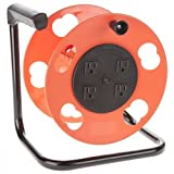 K-2000 Cord Storage Reel w/4 Outlets & Resettable 15amp Circuit Breaker