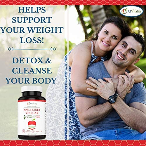 Organic Apple Cider Vinegar with Cayenne Pepper – Natural Detox Cleanse, Weight Loss, Digestion, Appetite Suppressant, Prevent Bloating, Immune Health, Premium Keto Friendly Supplement 1500mg Capsules 8