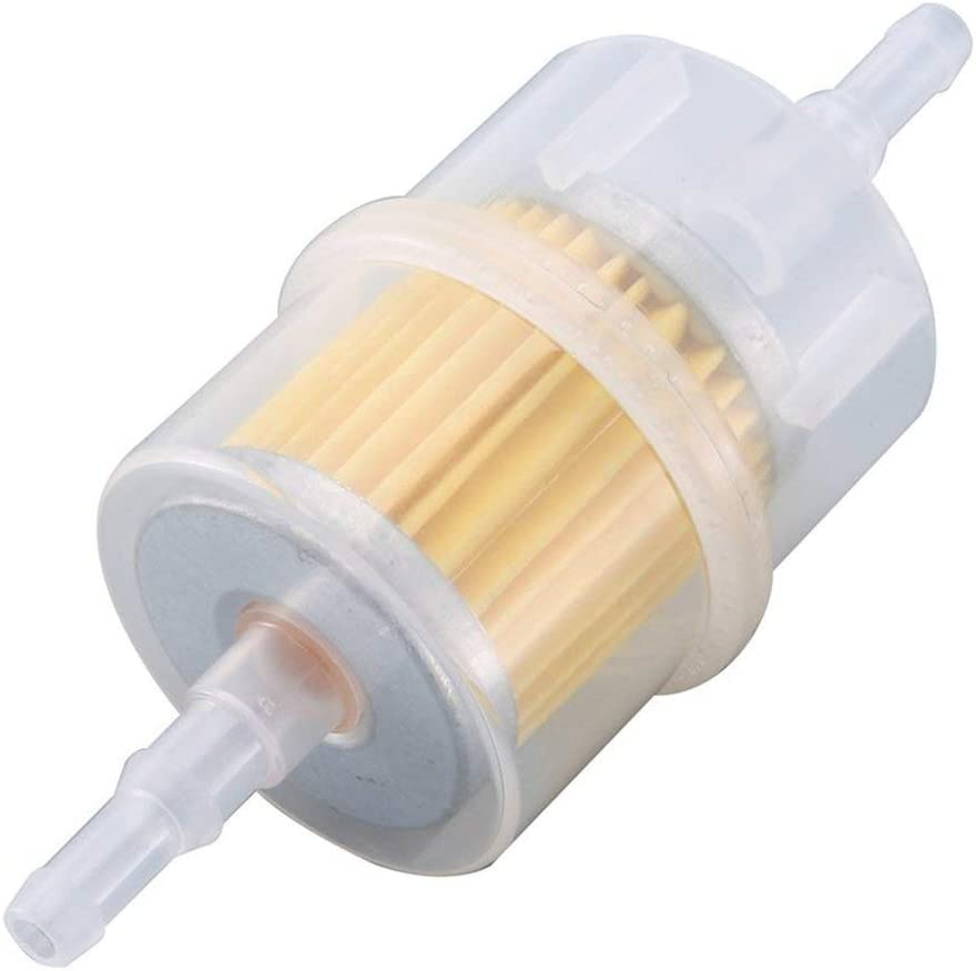Sylvialuca 932 Inline Benzinfilter Gro/ßer Universal /Ölfilter passend f/ür 6mm 8mm Rohre