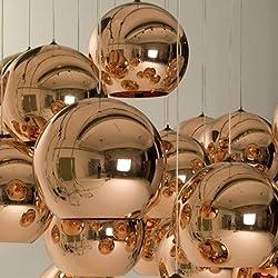 Lightinthebox Mini Globe Pendant, 1 Light, Metal Glass Electroplating, Modern Home Ceiling Light Fixture Flush Mount, Pendant Light Chandeliers Lighting for Dining Room, Bedroom, Living Room