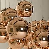 Lightinthebox Mini Globe Pendant, 1 Light, Minimalist Metal Glass Electroplating, Modern Home Ceiling Light Fixture Flush Mount, Pendant Light Chandeliers Lighting for Dining Room, Bedroom, Living Room