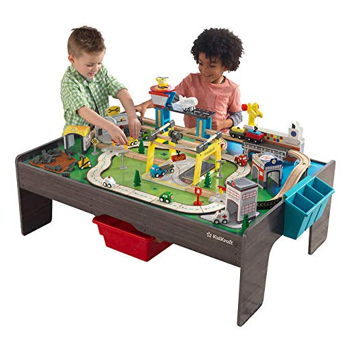 My Own City Vehicle and Activity Table with EZ Kraft Assembly (Reversible Table Top with Art Caddy and 2 Storage Bins) 3+ -