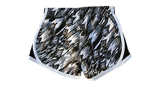 Nike Little Girls' Tempo Shorts (3T, White (001) / Black/Pink/White)
