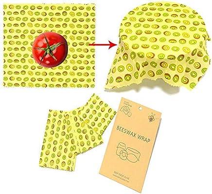Volwco - Envoltorio reutilizable de cera de abeja para alimentos ...