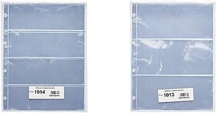 Pardo 101400 Pack de 10 fundas para colección variada, 4 alojamientos + 101300 Pack de 10 fundas para colección variada, 3 alojamientos: Amazon.es: Oficina y papelería