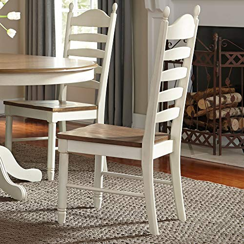 Liberty Furniture Industries 278-C2000S Springfield Ladder Back Side Chair (RTA), White (Chair History Back Ladder)