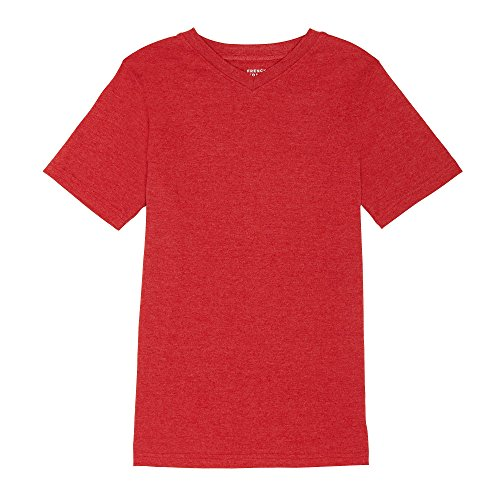 French Toast Boys' Toddler Short Sleeve Crewneck Tee, True Crimson Heather, 2T - Boys Red Crewneck Shirt