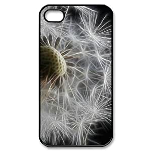 DIY Cover Case with Hard Shell Protection for Iphone 4,4S case with Dandelion lxa#448472