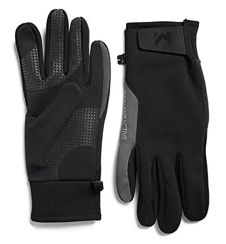Mission Men's RadiantActive Performance Midweight Gloves, Black, Large/X-Large