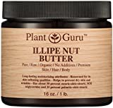 Illipe Nut Body Butter 16 oz. 100% Pure Raw Fresh Natural Cold Pressed. Skin Body and Hair Moisturizer, DIY Creams, Balms, Lotions, Soaps.