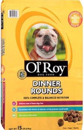 Amazon Com Ol Roy Dinner Rounds Dry Dog Food 15 Pound Dinner