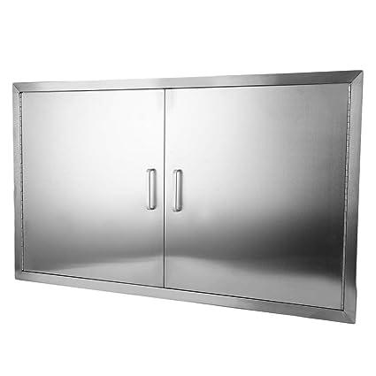 Amazon.com: Holarose puerta de barbacoa de acero inoxidable ...