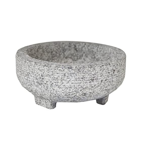 Vasconia 4-cup granite molcajete mortar and pestle 2 authetnic tool for grinding: enjoy an authentic, hands-on tool for grinding grains, spices, and herbs, as well as making salsas, guacamole, and pico de gallo. Large capacity for grinding: the beautiful granite molcajete has a 4-cup capacity, this mortar and pestle looks great on the counter and also looks beautiful on the table serving a hand-prepared salsa. The ideal grinding tool: the smooth interior is an ideal grinding surface and overall it bears a classic, traditional design.
