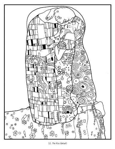 Gustav Klimt Coloring Book Pomegranate 9780764955341 Amazoncom