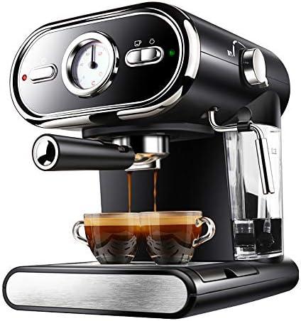 ZGZXD Italienische Kaffeemaschine, Halbautomatische Filter Espressomaschine 20Bar Pumpendruck Dampfmilchschaum,Schwarz
