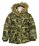 J. Crew Crewcuts Girls Furry Hooded Puffer in Camo Sz 4/5 Style 02741 New