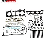 #1: Fits 01-2005 1.7L Honda Civic DX LX VTEC D17A1 Head Gasket Set Head Bolts