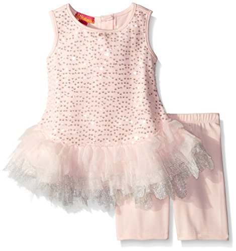 Kate Mack Little Girls' Toddler Twinkle Toes Tunic and Legging Set, Pink, (Twinkle Toes Clothes)