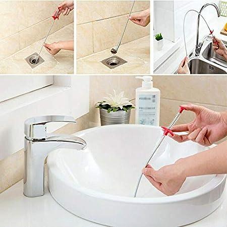 2pcs Herramienta multifuncional para limpieza de alcantarillas con garras de tuber/ía,/Úselo para agarrar basura y un sinf/ín de desag/üe para desatascar del fregadero de desag/ües 60+160cm
