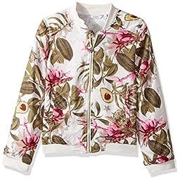 GUESS Big Girls\' Long Sleeve Printed Jacket, Fresh Avocado, 10