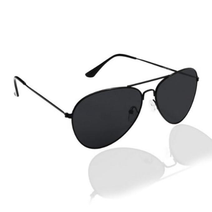 2c7ebd16c32ede PURECITY© - Lunettes de soleil style aviateur fbi pilote retro vintage 80 s Homme  Femme - Monture noir verre noir - Tendance fashion  Amazon.fr  Vêtements ...