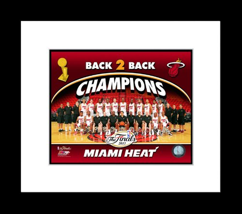 Miami Heat 2013 NBA Finals Championship Team Framed Photo 13x16