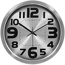 HIPPIH Large Silent Wall Clock - 12 Inch Non-Ticking Indoor Decorative Clocks for Office/Kitchen/Bedroom/Living Room (Big Number)