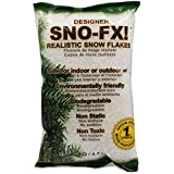"SNO-FX!â""¢ (Pat.) White Fake Snow Flakes, Biodegradable Artificial Snow, 4QT Bag"