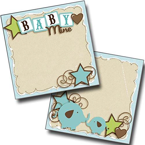 Baby Mine Boy NPM - Premade Scrapbook Pages - EZ Layout 4041