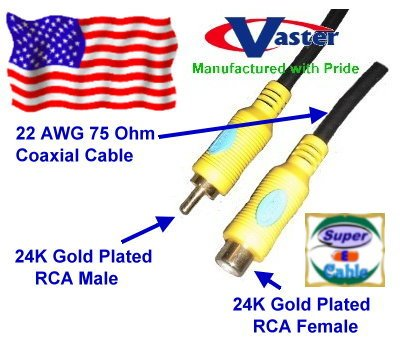 Digital Video Coaxial Cable, 24K S/PDIF Subwoofer Speaker Coaxial Audio Extension Cable,