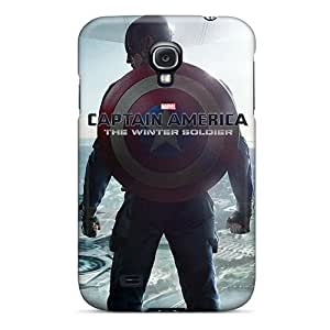 Samsung Galaxy S4 LMN12936HeJT Provide Private Custom Lifelike Captain America The Winter Soldier Image Durable Cell-phone Hard Cover -MarieFrancePitre