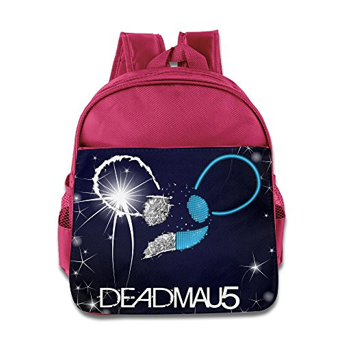 Logo Deadmau5 Its Complicated Kids School Pink Backpack Bag