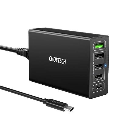 Amazon.com: Carga Rápida 3.0, CHOETECH 6-Port USB estación ...