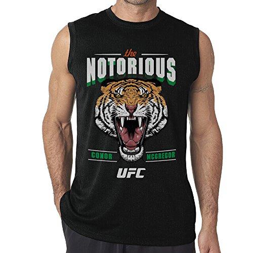 Conor McGregor Celtic Tiger Men Crewneck Sleeveless Black T-Shirts (Tiger Sleeveless Jersey)