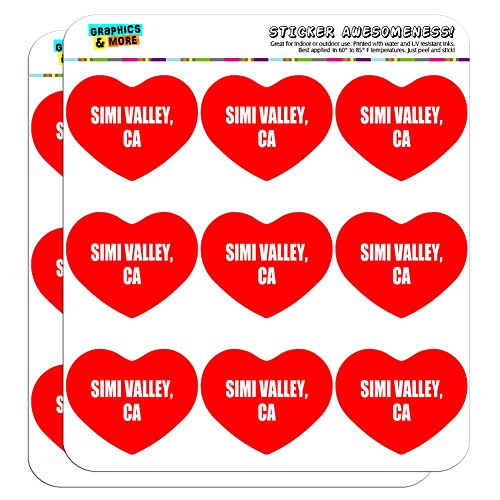 Graphics and More I Love Heart Simi Valley CA Planner Calendar Scrapbooking Crafting Stickers - 18 2