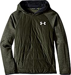 Under Armour Boys' Storm Insulated Pullover Swacket, Black/Black, Youth X-Small