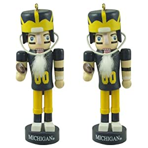 University of Michigan Wolverines Mini Nutcracker Ornament Set