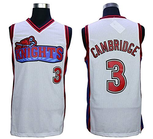 384da70b7 MVG ATHLETICS Cambridge  3 Knights Throwback Basketball Jersey Embroidery  Small-XXL (White