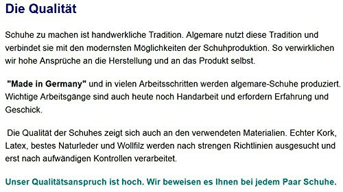 Algemare Damen Leder Pantolette Nubuk Glitter mit Sani-Pur Wechselfußbett Made in Germany 3416_0406, Größe:40