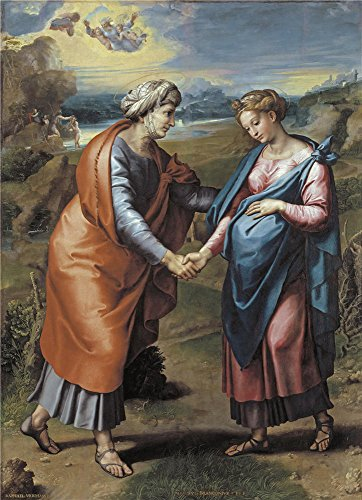 'Raphael The Visitation Ca. 1517 ' Oil Painting, 20 X 28 Inch / 51 X 70 Cm ,printed On Polyster Canvas ,this Best Price Art Decorative Canvas Prints Is Perfectly (Dormouse Costume Ideas)