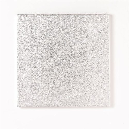 PACK OF 5 - 12'' Square Cake Drum/Board - 13mm Thick - Silver Foil Covered Culpitt