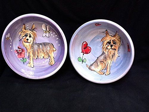 8 inch ceramic dog bowl set - 8