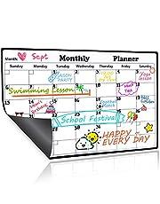 Homein Dry Erase Calendar Magnetic Fridge Calendar Board Monthly Whiteboard 2021 Family Calendars for Refrigerator White Organizing Planner Board, 16.9 X 11.8 inches